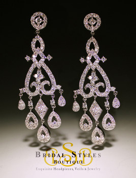 Dramatic chandelier earrings