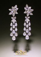 E144 Classic CZ Chandelier Earrings
