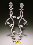 E146 Modern Long CZ Earrings