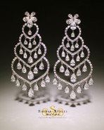 Intricate CZ Chandelier Earrings
