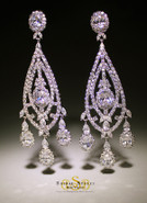 Impressive CZ Large Earrings