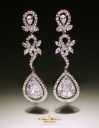 Filigree Bridal Chandelier Earrings