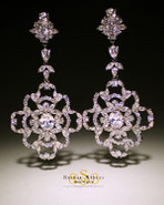 Large and Dramatic CZ Chandelier Earrings