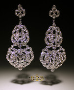 E163 Vintage Hollywood Chandelier Earrings (CUSTOM DESIGN)