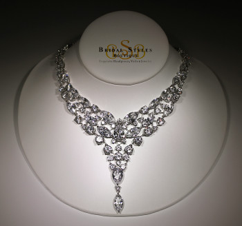 Fancy CZ Drop Necklace