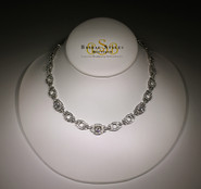 Modern Art Deco CZ Necklace