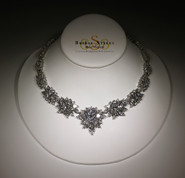 N126 Fancy Runway CZ Necklace