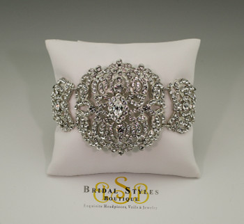 Hollywood Drama Thick Swarovski Crystal Vintage Bracelet
