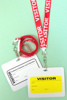 "5/8"" (16 mm) Pre-Printed Visitor Lanyards 1.5 Flat Breakaway Pre-Printed Lanyards with Swivel Hook (490)"