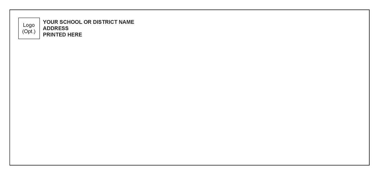 #191Env10 - #10 Envelope Black Ink - Customized