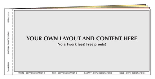 """#19134 - Customized Form - 8½"""" x 4¼"""" - 4 Part"""