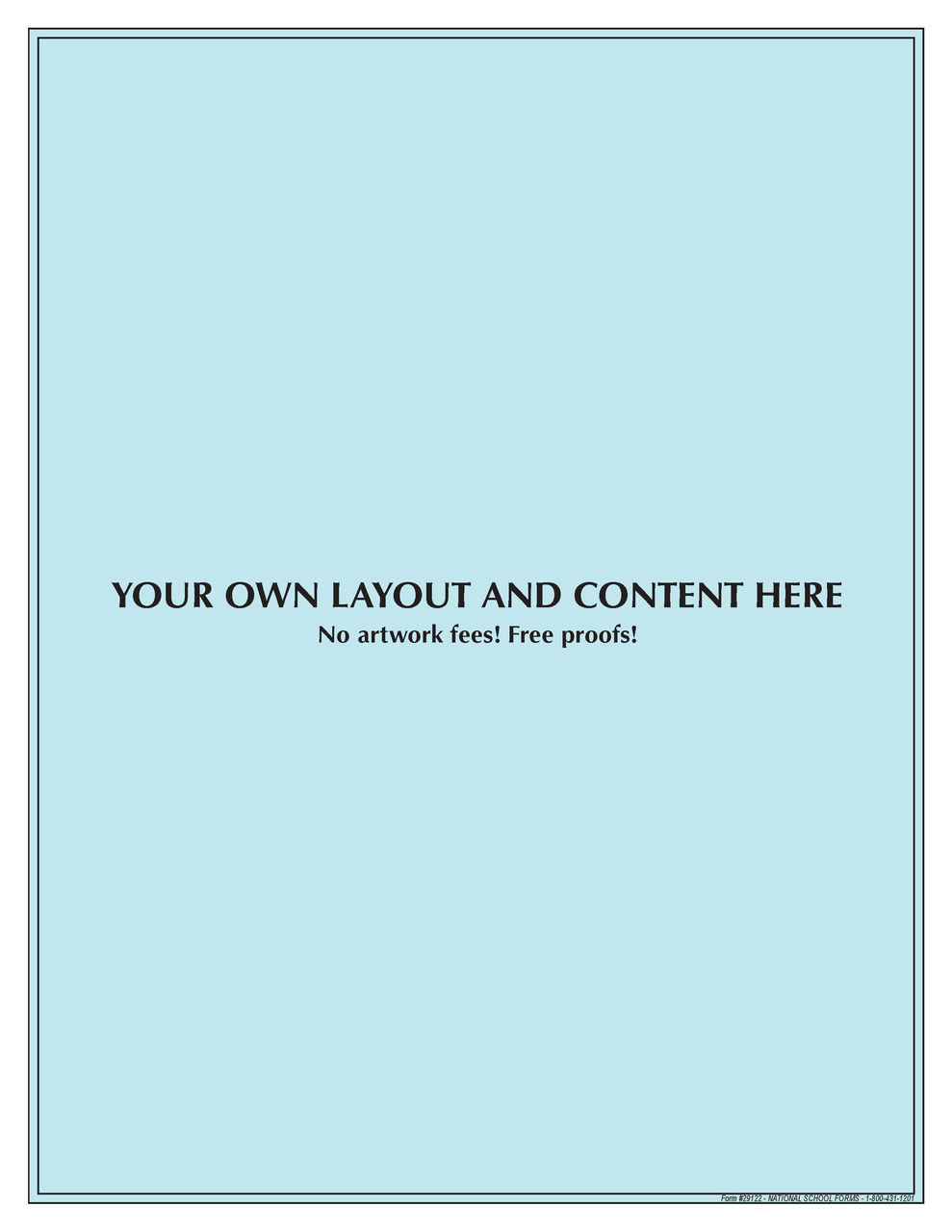 "#29122 - Customized Pad - 8½"" x 11"" - 100 Sheets per Pad"