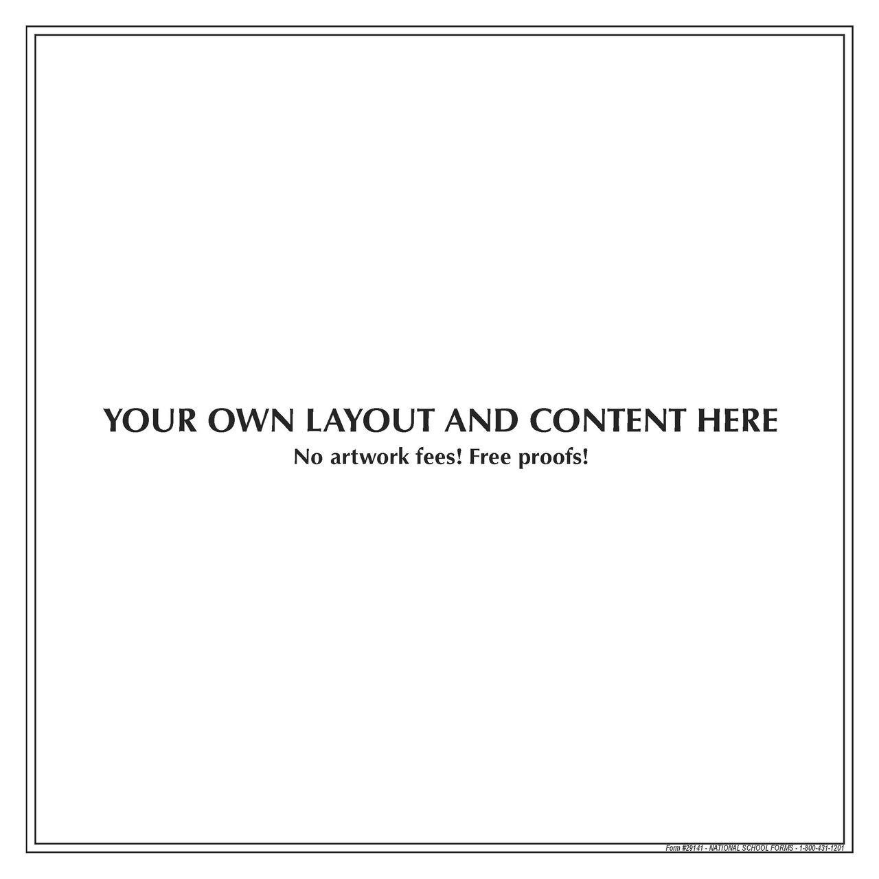 "#29141 - Customized Pad - 8½"" x 8½"" - 50 Sheets per Pad"