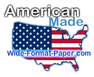 Shop Wide-Format Papers, Ink and Supplies.  American Wide-Format Media Paper that makes the difference.  American made USA Wide Printer Products that fit correctly, print BEST and delivered FAST Shipping.  Most of America gets delivery in 2 business days after shipping via UPS Ground
