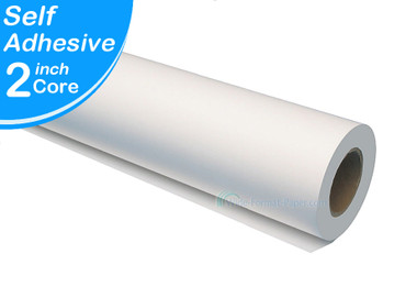 "Our White Media 42"" reply to Self Adhesive Water Resisitant Large-Format Paper. This poly pro last longer, will not tear and can hold any ink"
