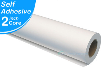 "Wide Roll format fast 60"" Width by 100' Adhesive repositionable to permanent, White Polypropylene 1RL, Water, Humidity Resistant"