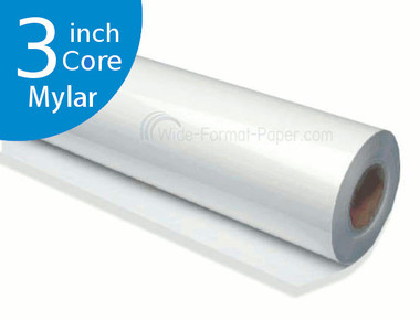 "DM Engineer's Printing Mylar Film, 300 FEET 4 mil, 24"" LARGE LONG FORMAT 3 Core Paper"