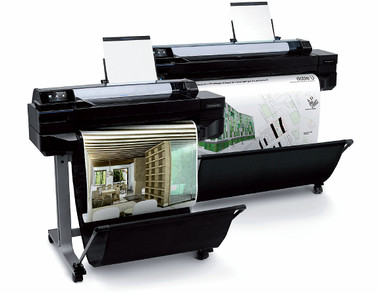 Designjet t520 paper rolls and more media printer
