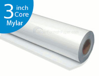 "30"" 3 core, Xerographic Mylar Film, 4 mil, 30"" x 150' Paper Wide Format Roll"