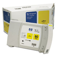 HP 80 - Ink Cartridge - Yellow  350ml