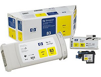 HP 83 - Yellow UV Value Pack, Cartridge, Printhead and Cleaner