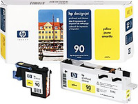 HP 90 - Yellow - Printhead and Cleaner