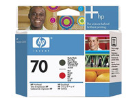 HP 70 - Printhead - 1 X Matte Black,Red