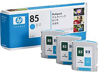 HP 85 - Ink Cartridge - Cyan - 3 Pack