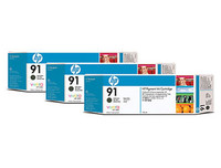 HP 91 - 3-Ink Multipack - Black 775ml ea.