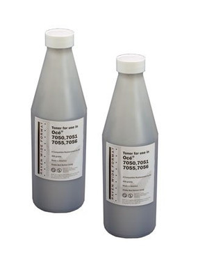Oce Wide Format Toner, 2-400 gm, 2 Bottles,OCT7050-2