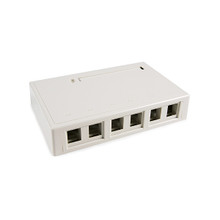 HellermannTyton | SMBSIX-FW | SURFACE MT BOX-SIX PORT OFFWHT |  Lectro Components