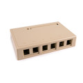 HellermannTyton | SMBSIX-I | SURFACE MT BOX-SIX PORT IVORY  |  Lectro Components