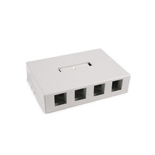 HellermannTyton | SMBQUAD-FW | QUAD SURFACE MOUNT BOX OFF.WHT |  Lectro Components