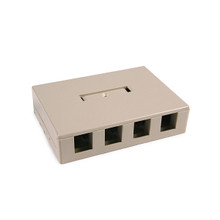 HellermannTyton | SMBQUAD-I | QUAD SURFACE MOUNT BOX - IVORY |  Lectro Components