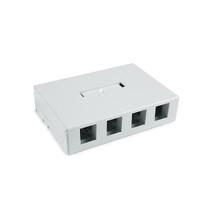 HellermannTyton | SMBQUAD-W | QUAD SURFACE MOUNT BOX - WHITE |  Lectro Components