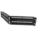 HellermannTyton | APP110C5E48 | ANGLED CAT5E1U 48 PORT PANEL   |  Lectro Components