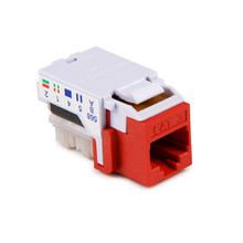 HellermannTyton | RJ11FC3-RED | CATEGORY 3 6P6C RJ11 FLUSH  |  Lectro Components