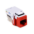 HellermannTyton | RJ45FC6-RED | CATEGORY 6 FLUSH MOUNT   |  Lectro Components