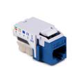 HellermannTyton | RJ45FC6B-BLU | RJ45 CAT6 BLUE BULK  50/PK  |  Lectro Components