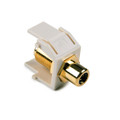 HellermannTyton | RCAFINSERTB-FW | RCA F CONNECTOR, BLK  OFF.WHT  |  Lectro Components