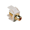 HellermannTyton | RCAFINSERT-FW | RCA  F CONNECTOR  OFF.WHITE |  Lectro Components