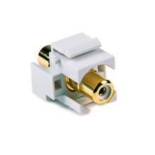 HellermannTyton   RCAINSERTW-W   RCA CPLR W/WHITE STRIP - WHT      Lectro Components