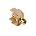 HellermannTyton | RCAFINSERTBL-I | RCA F CONNECTOR W/BLUE STRIPE  |  Lectro Components