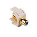HellermannTyton | RCAFINSERTBL-FW | RCA F CONNECTOR W/BLUE STRIPE  |  Lectro Components