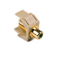 HellermannTyton | RCAFINSERTG-I | RCA F CONNECTOR W/GREEN STRIPE |  Lectro Components