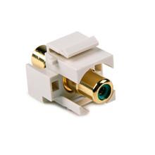 HellermannTyton   RCAINSERTG-FW   RCA COUPLER W/GREEN STRIPE     Lectro Components