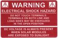 HellermannTyton | 596-00232 | WARNING ELE SHK HAZ W/DC 50/RL |  Lectro Components