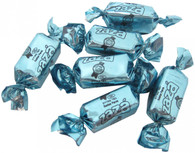 Zaza Foil Baby Blue Foiled Raspberry Flavored Chewy Kosher Taffy Candy