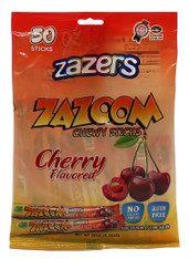 Zazers Zazoom Chewy Sticks Cherry Flavored Color/Gluten Free - 50 Pack
