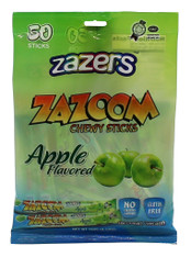 Zazers Zazoom Chewy Sticks Apple Flavored Color/Gluten Free - 50 Pack